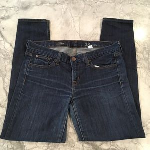 J Crew 28 Toothpick skinny ankle cropped jeans GUC